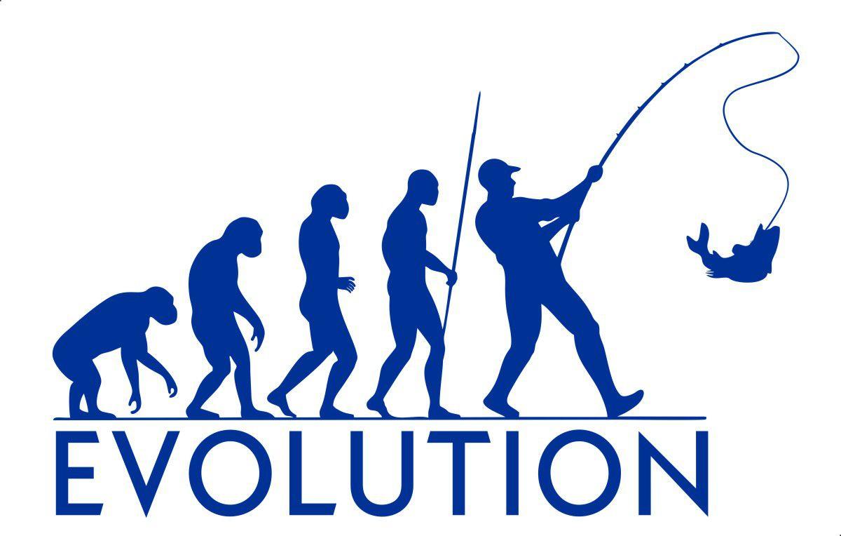 Adesivo Evolução do Pescador