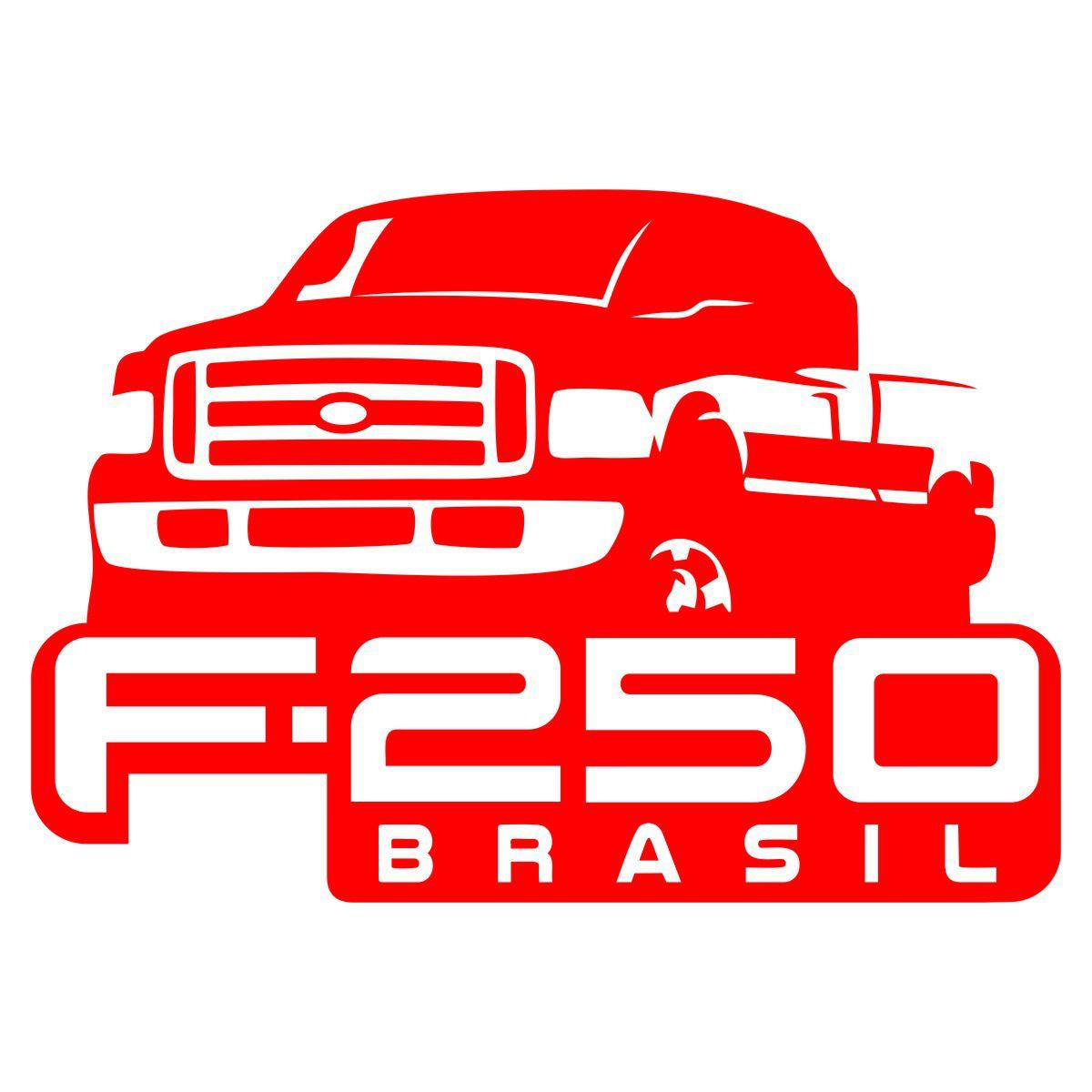 Adesivo Ford F-250 Brasil - Várias Cores