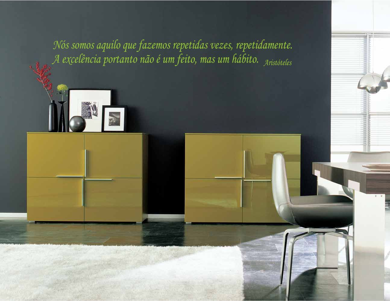 Adesivo Frase - Excelência Aristóteles - 110cm