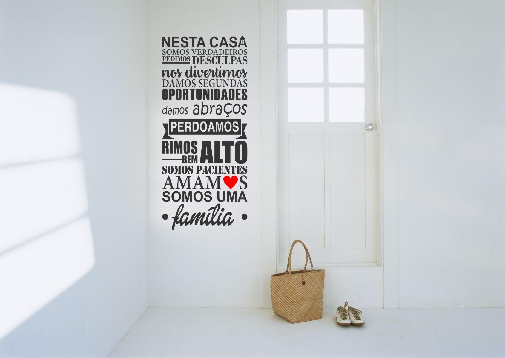 Adesivo Frase Nesta Casa - 110cm - Qualidade Vinilstudio