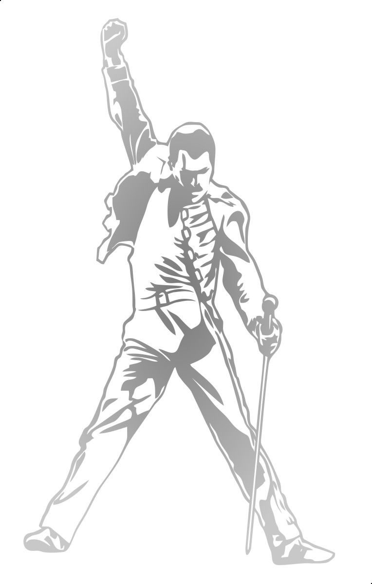 Adesivo Freddie Mercury Modelo 1