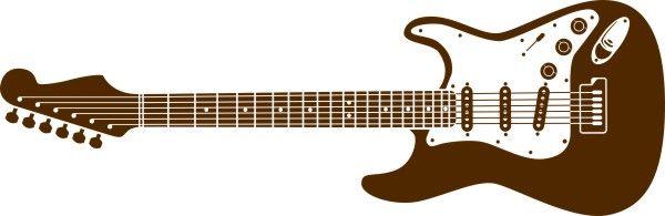Adesivo Guitarra 110cm - Várias Cores