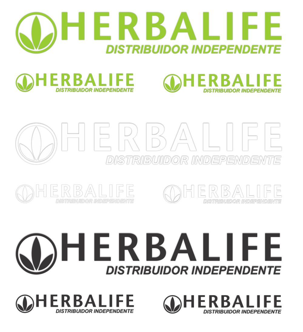 Adesivo Herbalife Distribuidor Independente - Kit com 3 Unidades