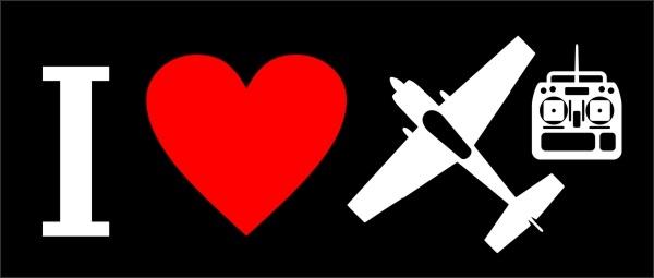 Adesivo I Love Aeromodelismo