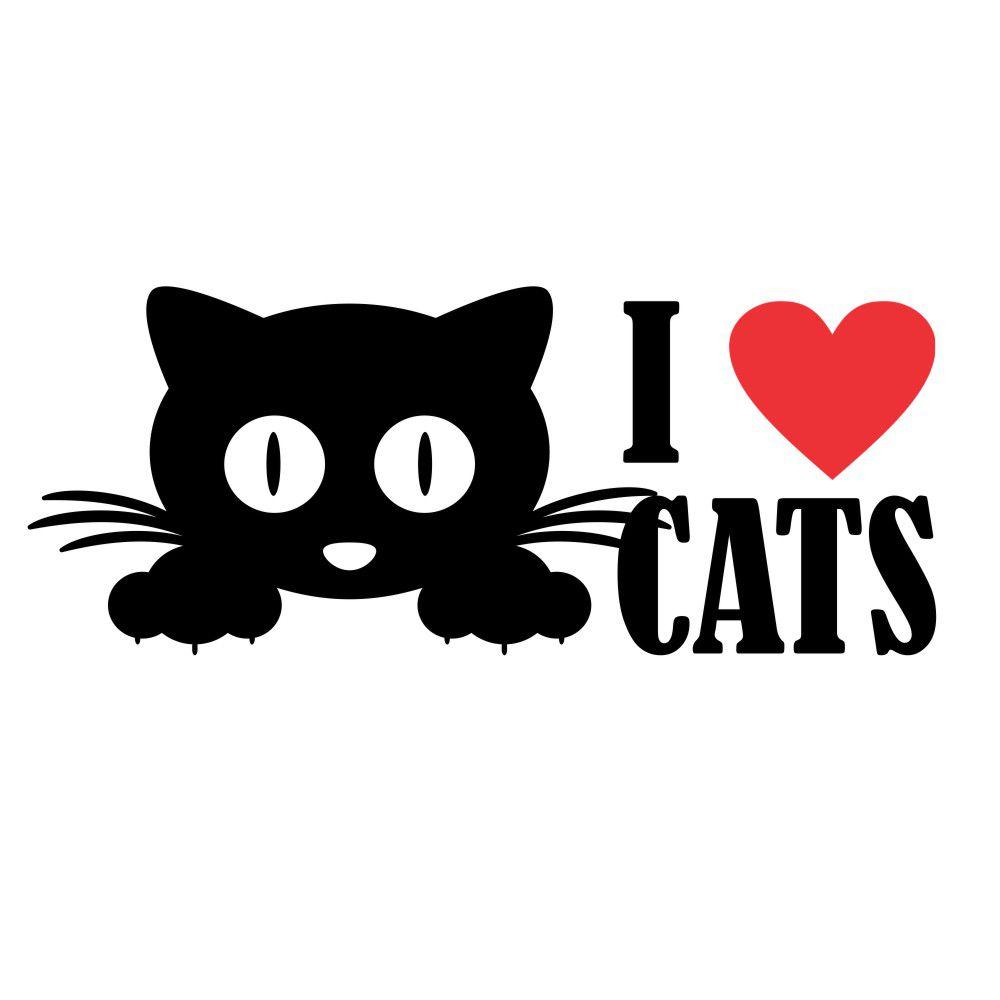 Adesivo I Love Cats