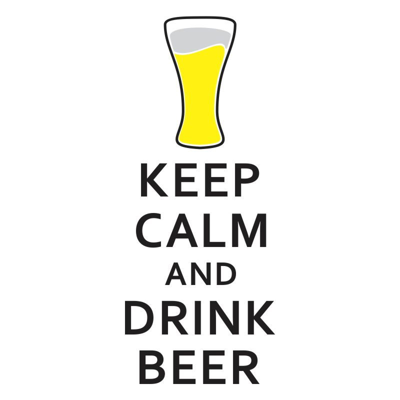 Adesivo Keep Calm and Drink Beer