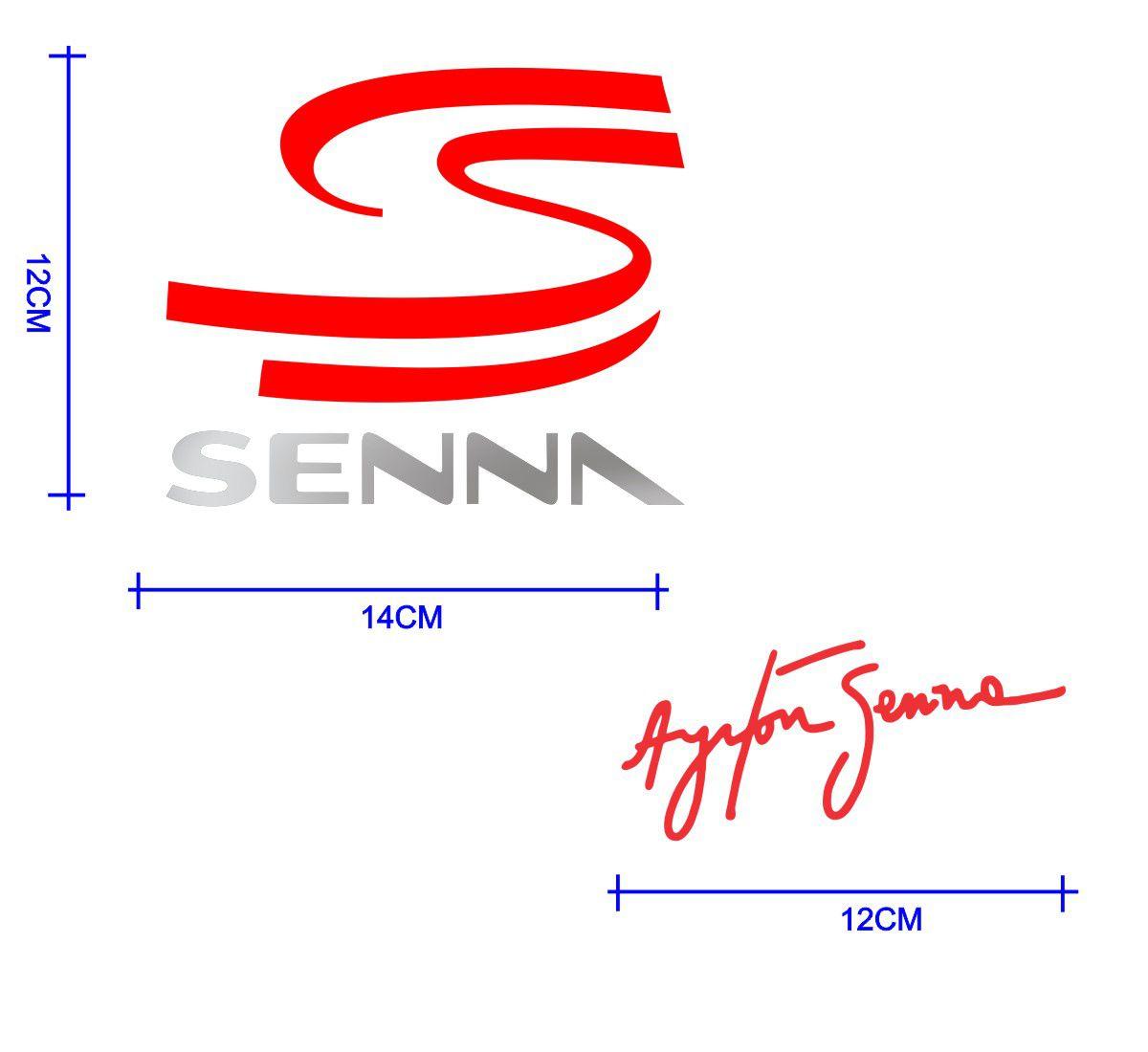 Adesivo Kit Senna: S do Senna + Assinatura