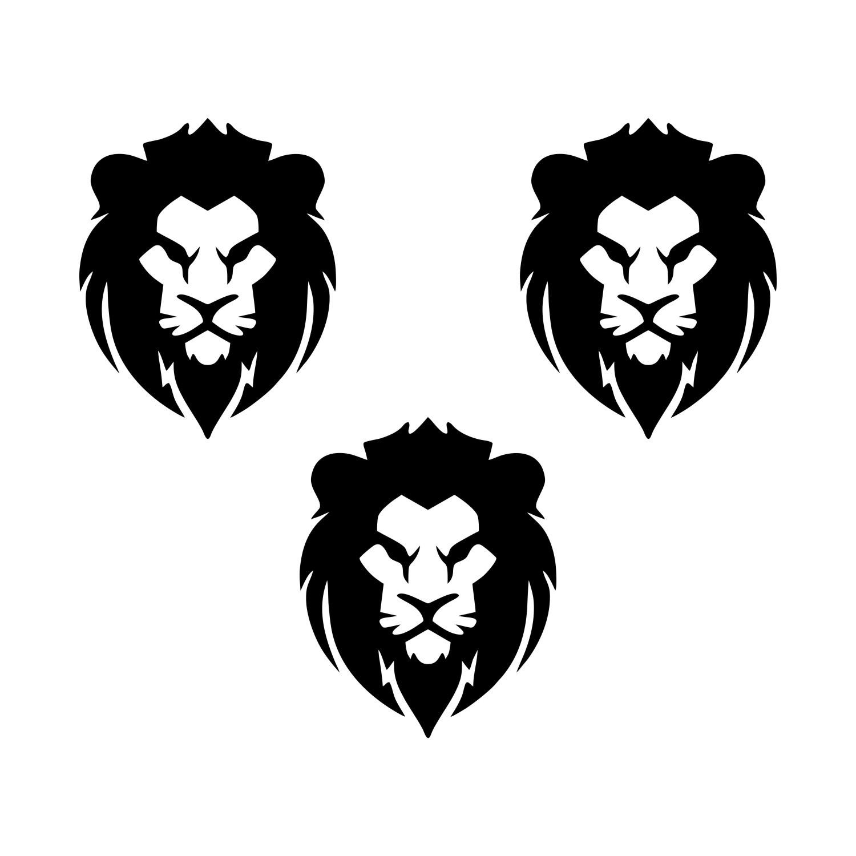 Adesivo Leão kit com 3 unidades - Várias cores