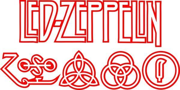 Adesivo Led Zeppelin - Várias Cores