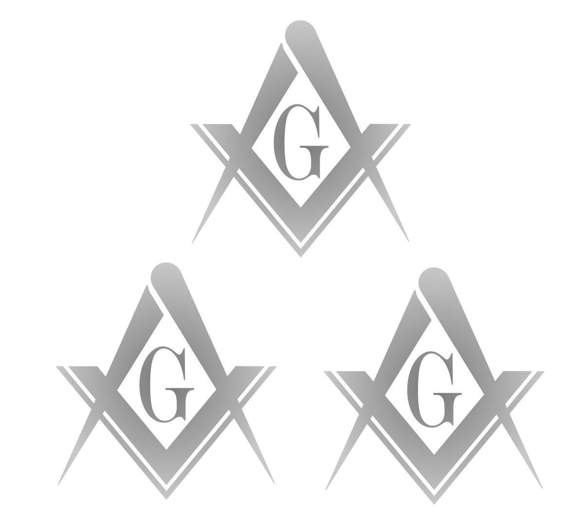 Adesivo Maçonaria - Kit com 3 unid. Tamanhos P M ou G