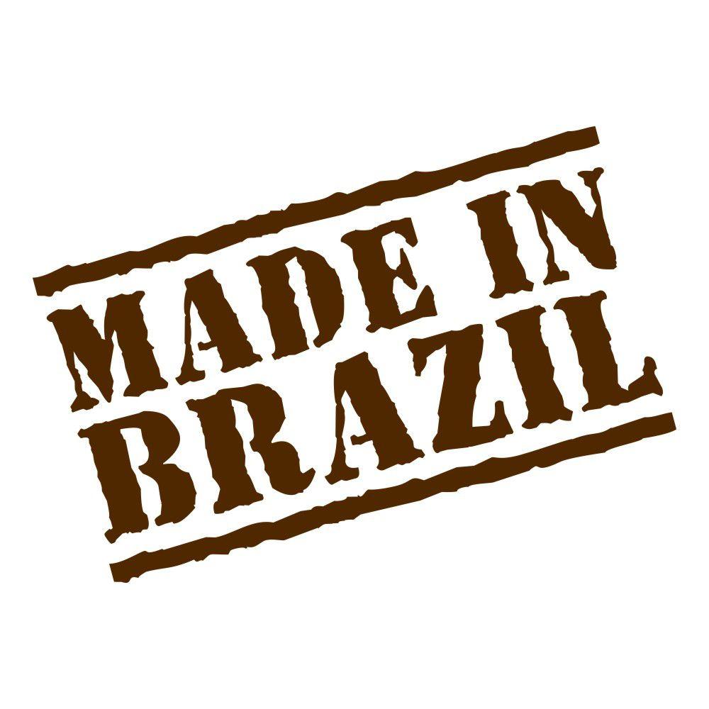 Adesivo Made In Brazil - Kit com 3 unidades