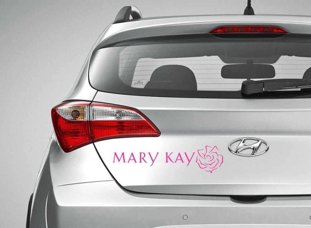 Adesivo Mary Kay - Com Rosa
