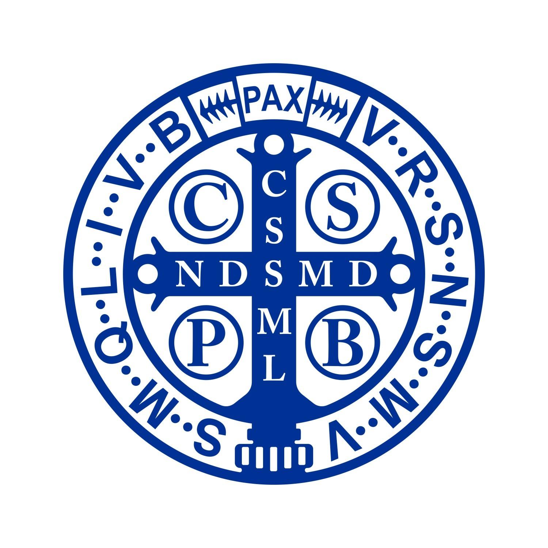 Adesivo Medalha de São Bento - 15CM