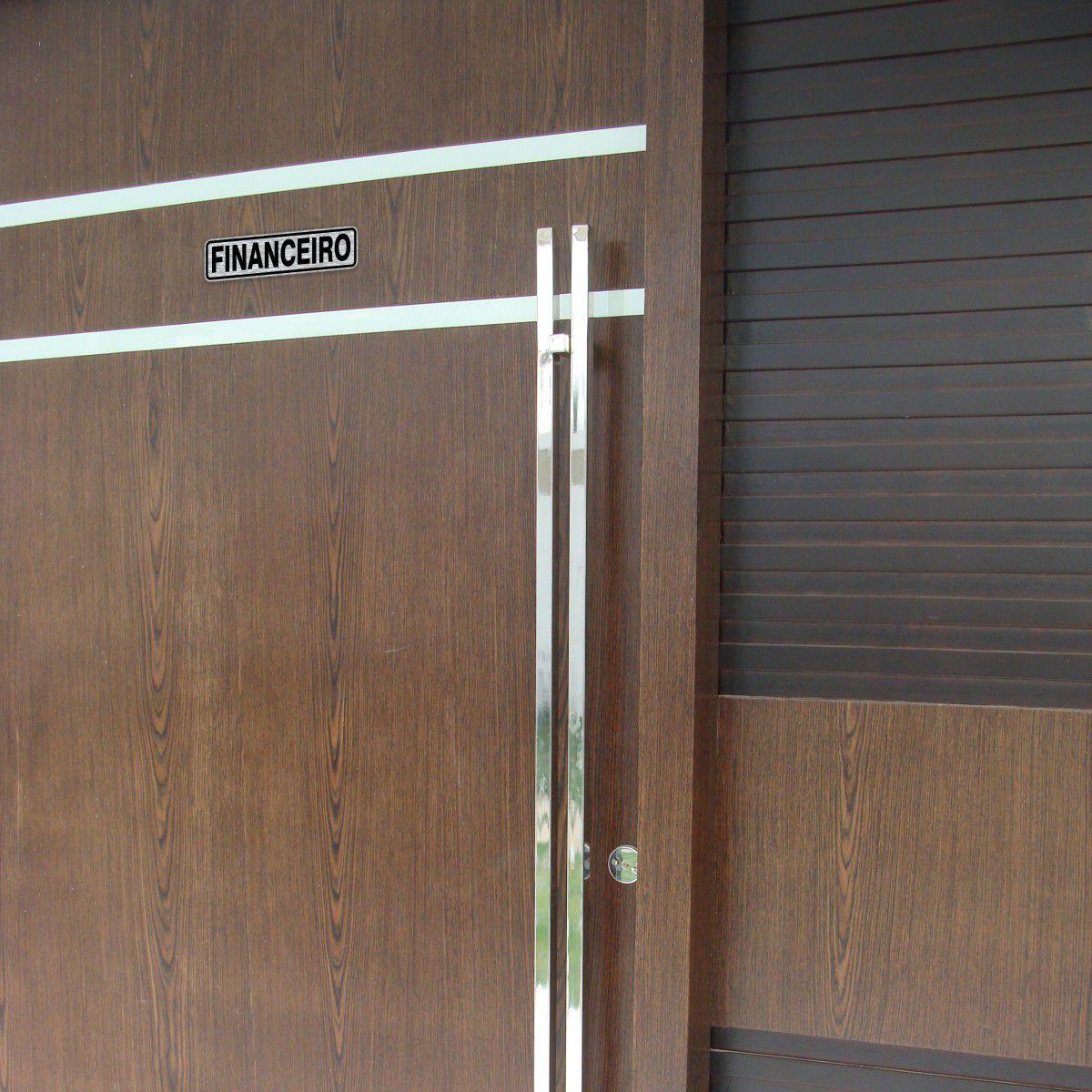 Adesivo para identificação de sala ou ambientes ou departamentos