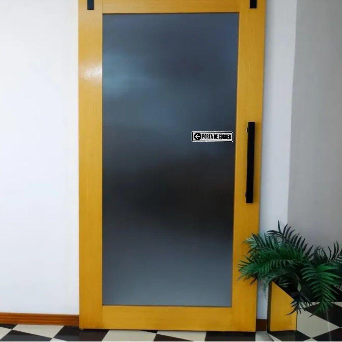 Adesivo Para Porta de Correr ou Deslizante - Conjunto Dir e Esq