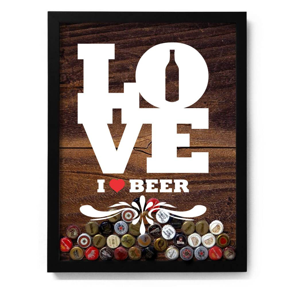 Adesivo para Quadro de Tampinha - Love Beer