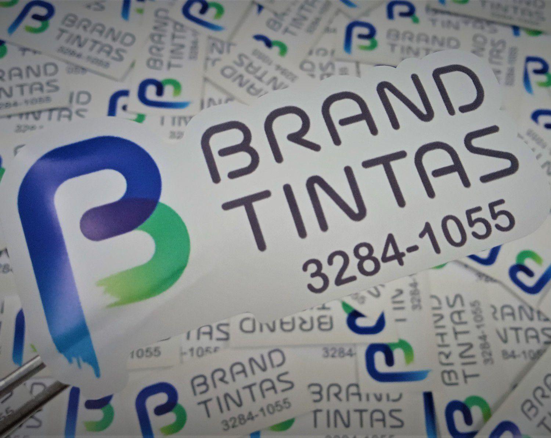 Adesivo Personalizado para sua Marca  Impresso + corte