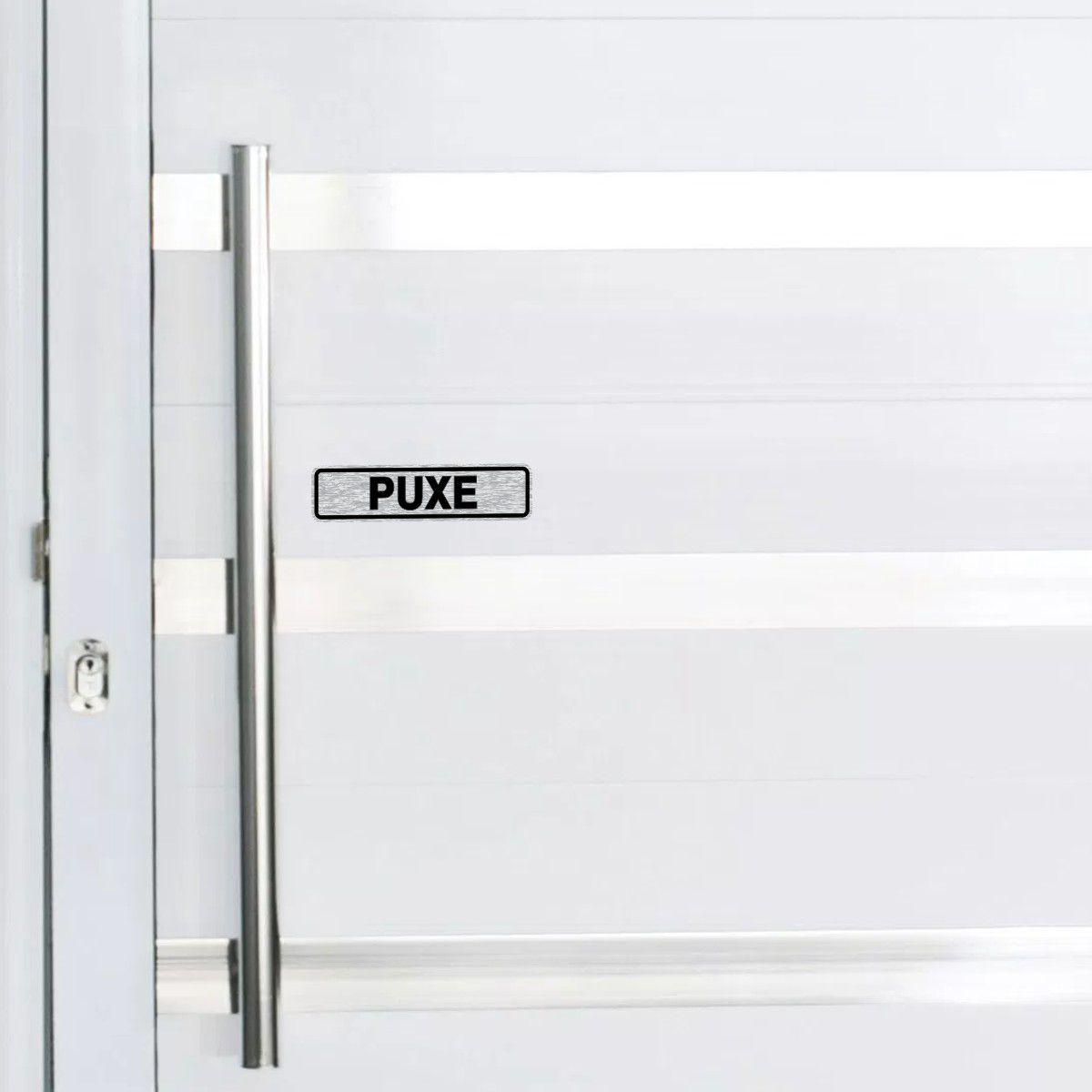 Adesivo PUXE EMPURRE para portas