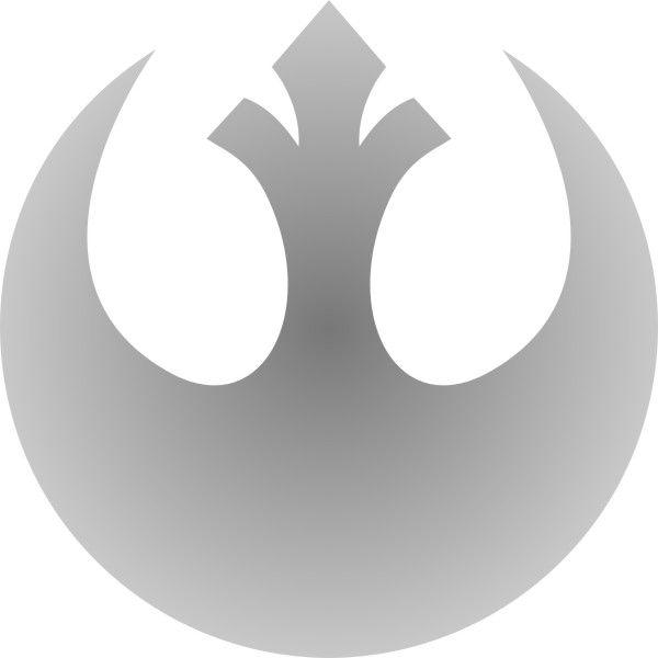 Adesivo Star Wars Aliança Rebelde 12cm - Várias Cores