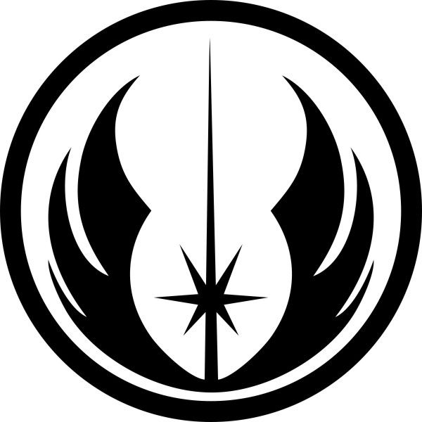 Adesivo Star Wars Ordem Jedi 12cm - Várias Cores