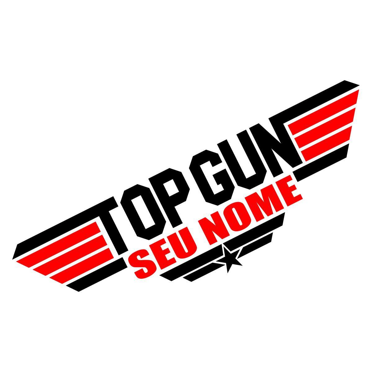 Adesivo TOP GUN - Novo modelo - Personalizado com seu nome