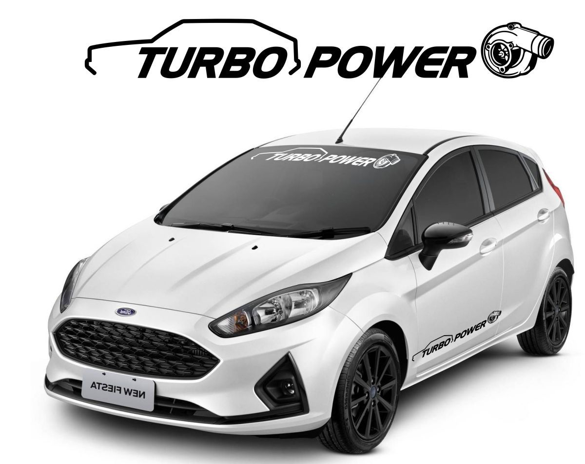 Adesivo Tuning Turbo 1 Metro - Recortado Alta Qualidade