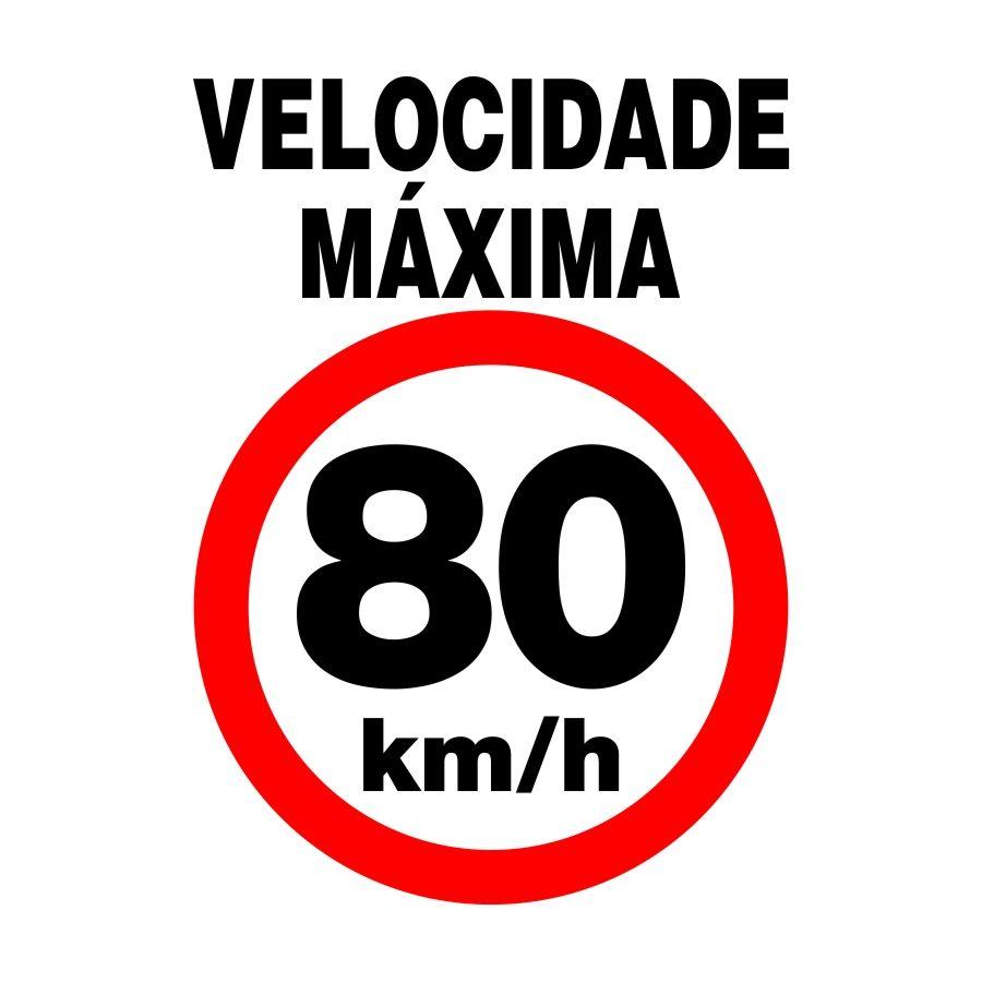 Adesivo Velocidade Controlada para veículos - 100 ou 80 KM/h