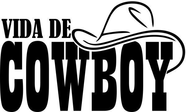 Adesivo Vida de Cowboy Chapeu - Várias Cores