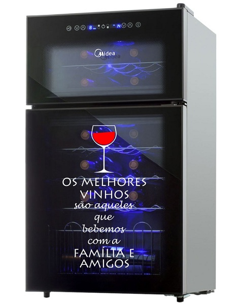 Adesivo para Porta Rolha ou Adega Os melhores Vinhos...