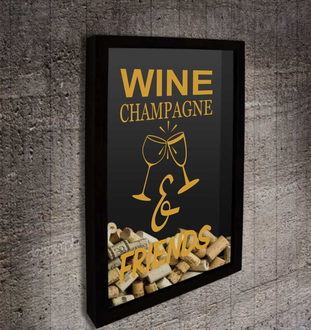 Adesivo Wine e Champagne para Quadro ou Adega
