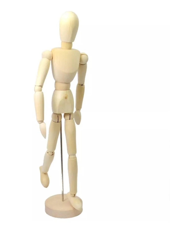 Boneco Manequim Articulado para Arte e Desenho - 14cm