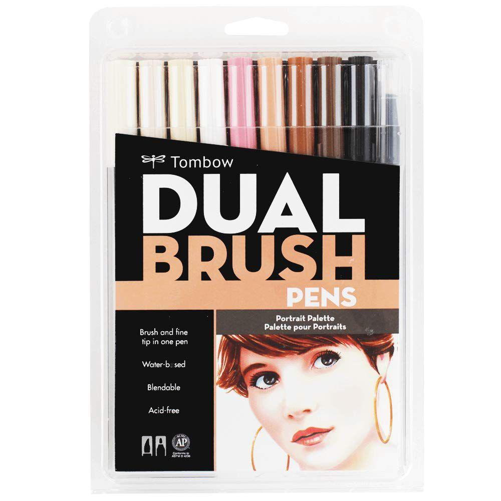 Canetas Dual Brush Tombow Kit c/10 canetas - Faciais