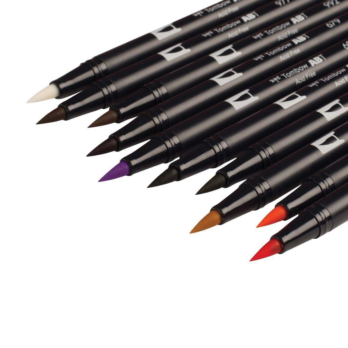 Canetas Dual Brush Tombow Kit c/10 canetas - Secundárias