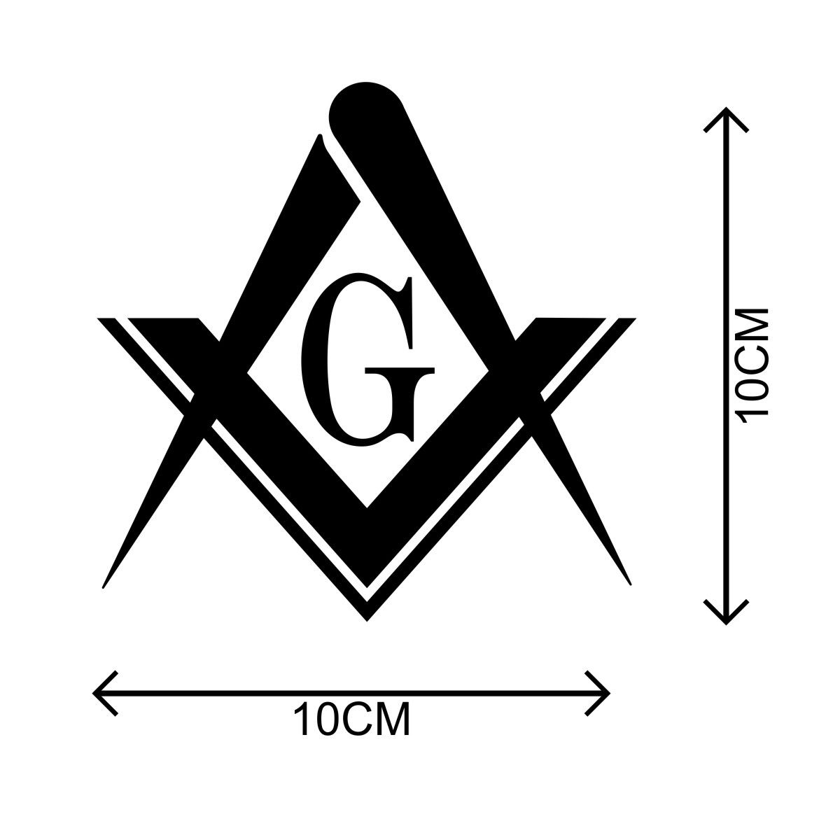 Adesivo Maçonaria - Kit com 3 unid. Tamanho G - 10x10cm