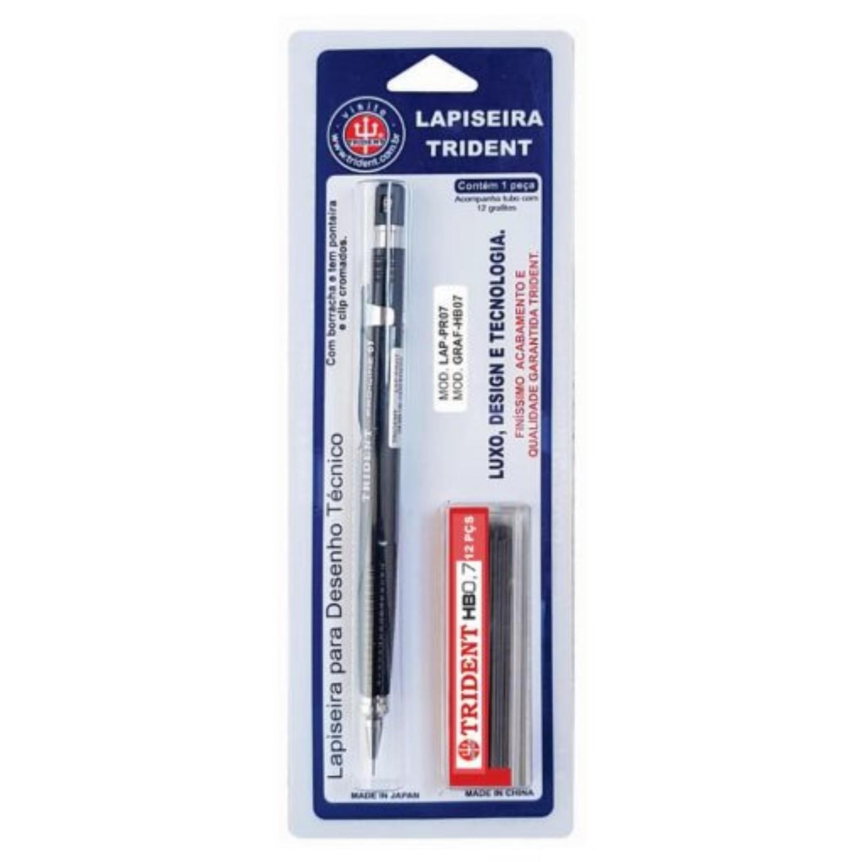Lapiseira Trident PRO-LINE - 0,7mm + Caixa de Grafite