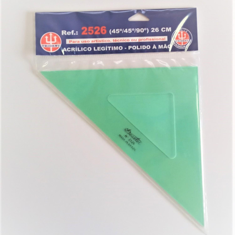 Esquadro Trident de 45º 26cm - 2526