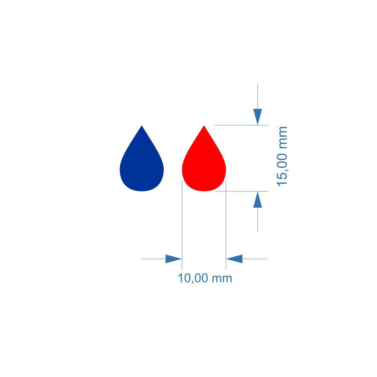Etiquetas em Gota para registro ou misturador Quente e Frio