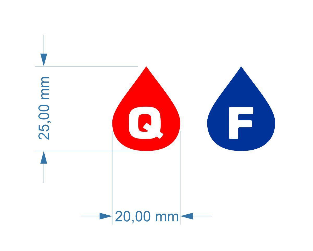 Etiquetas para registro Quente e Frio - Super Resistentes