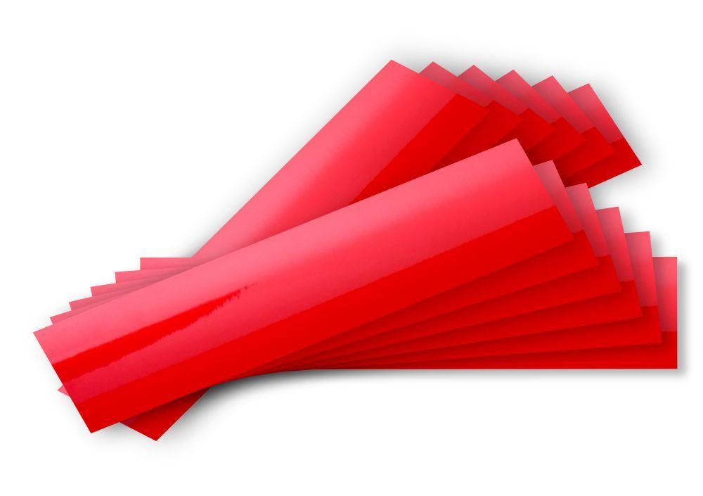 Kit 12 com faixas Refletivas 20x5cm - Ótima Reflexão. Escolha a Cor
