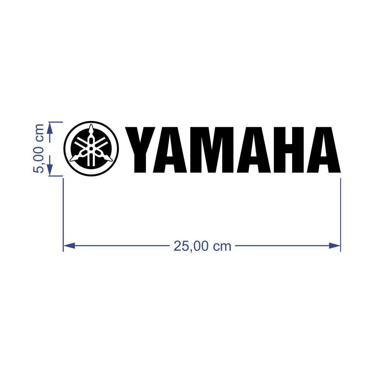 kit 2 Adesivos Yamaha 25x5cm