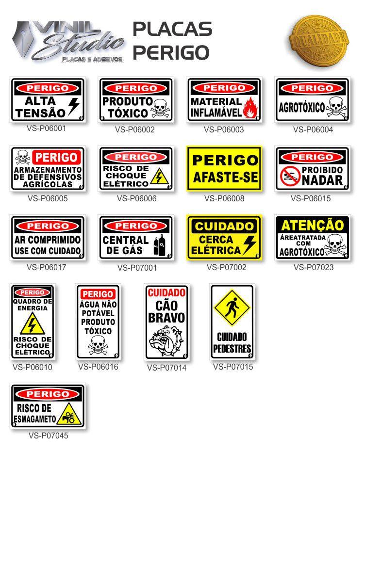 Kit 3 Placas em PVC - Vários Modelos