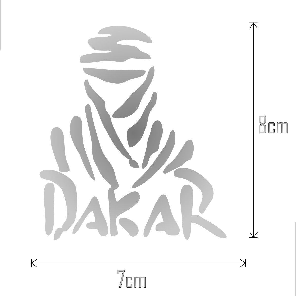 kit com 3 Adesivos Dakar - Minis 8x7cm