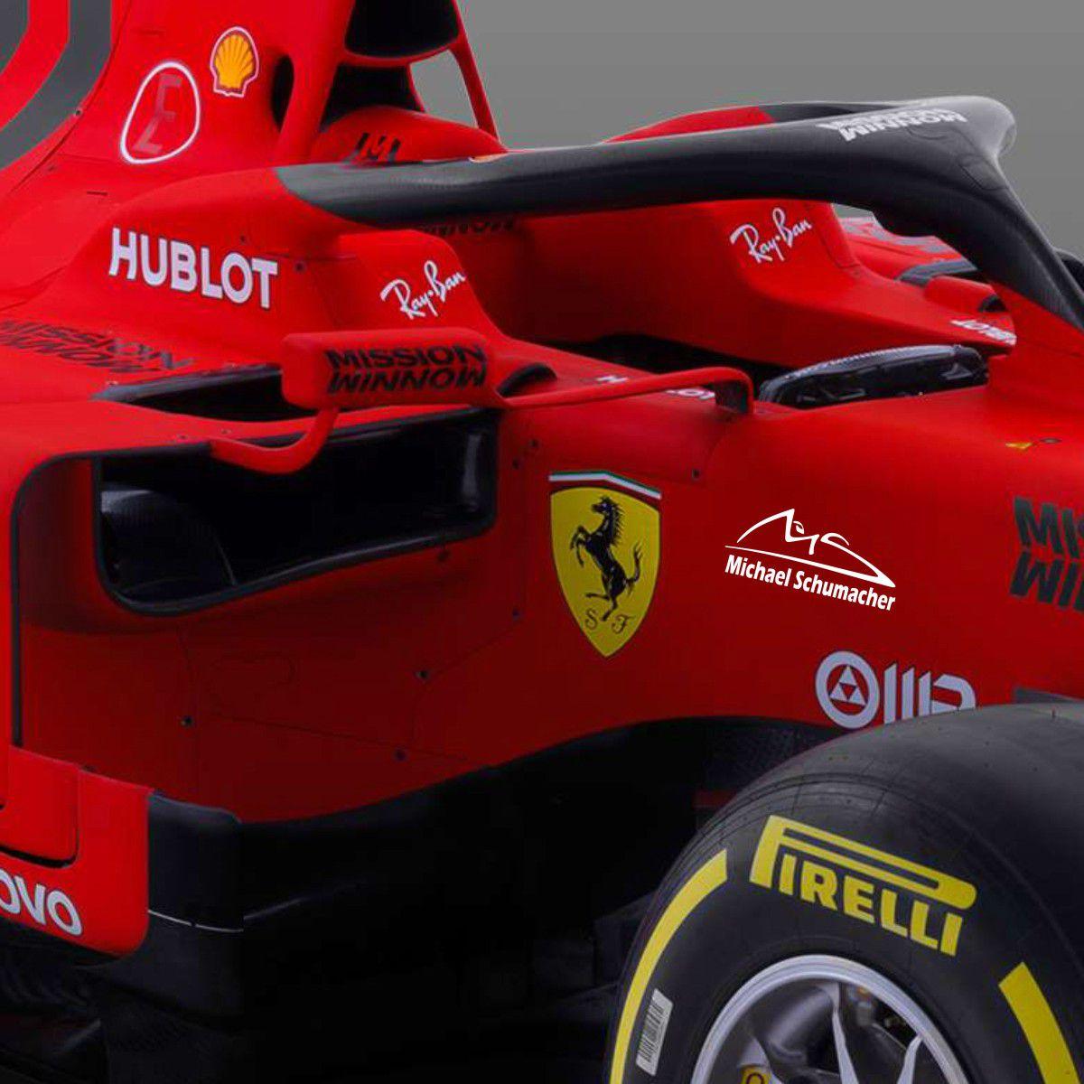 kit com 3 Adesivos Michael Schumacher - Minis 15x5cm