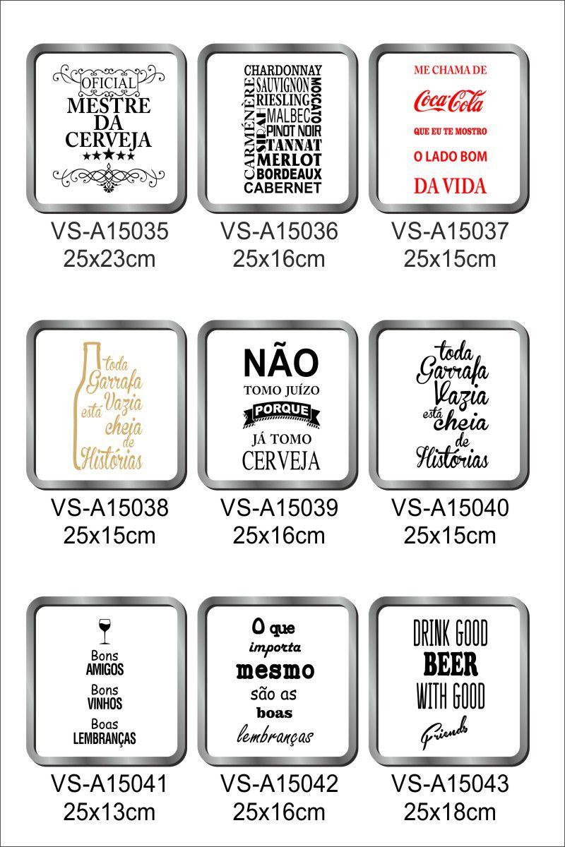 Kit Adesivos para quadro porta rolha ou tampinhas