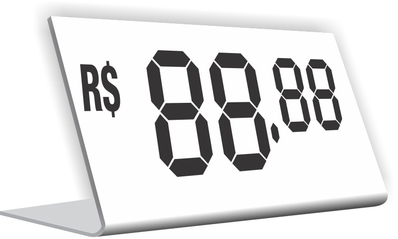 Kit Display de preços para vitrine
