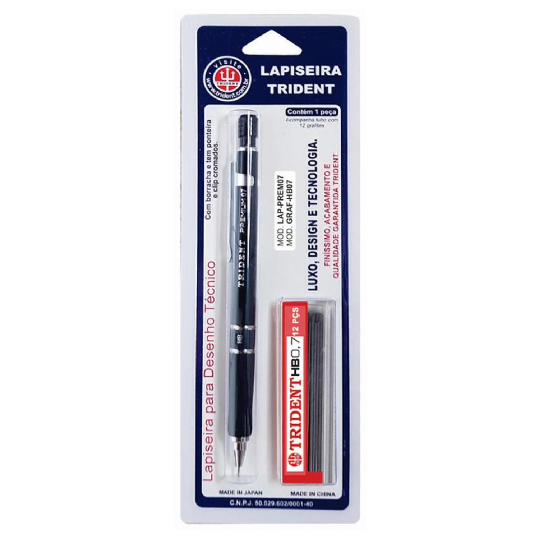 Lapiseira Trident Premium - 0,7mm + Caixa de Grafite