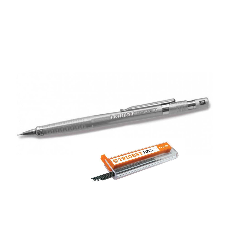 Lapiseira Trident PRO-LINE - 0,3mm + Caixa de Grafite