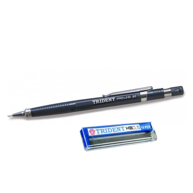 Lapiseira Trident PRO-LINE - 0,5mm + Caixa de Grafite