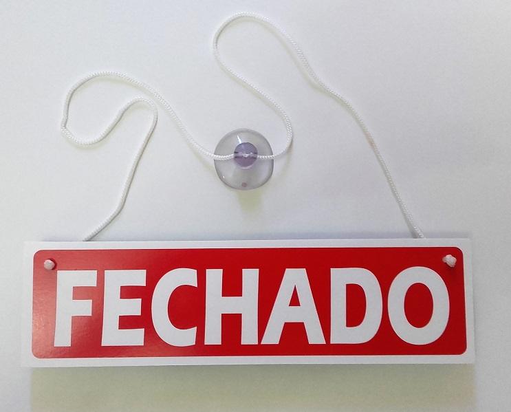 Placa Aberto e Fechado - Modelo2