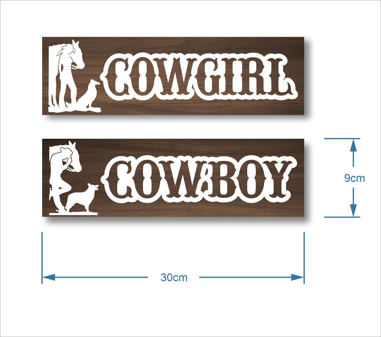 Placa Banheiro - Conjunto Cowboy + Cowgirl
